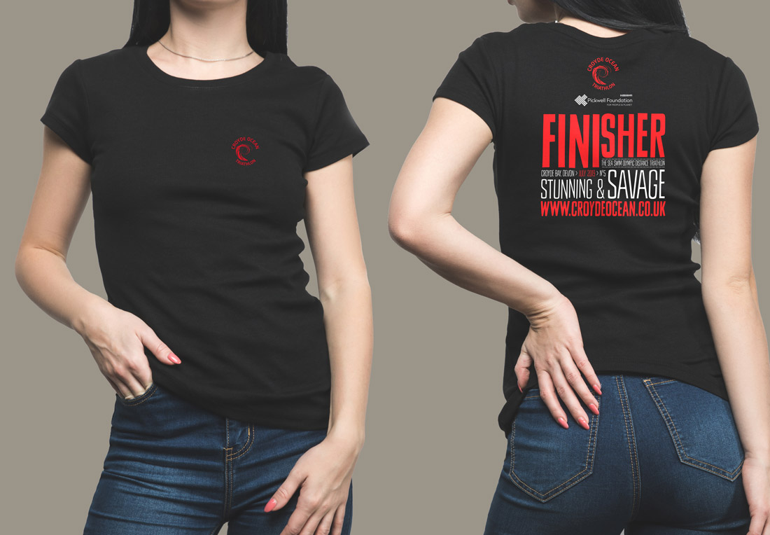 ladies finisher t shirt croyde ocean triathlon sportswear