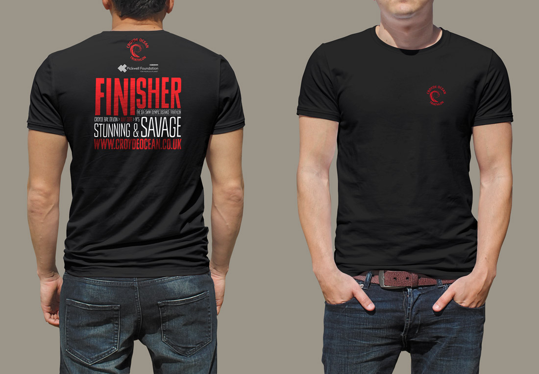 mens finisher t shirt croyde ocean triathlon sportswear